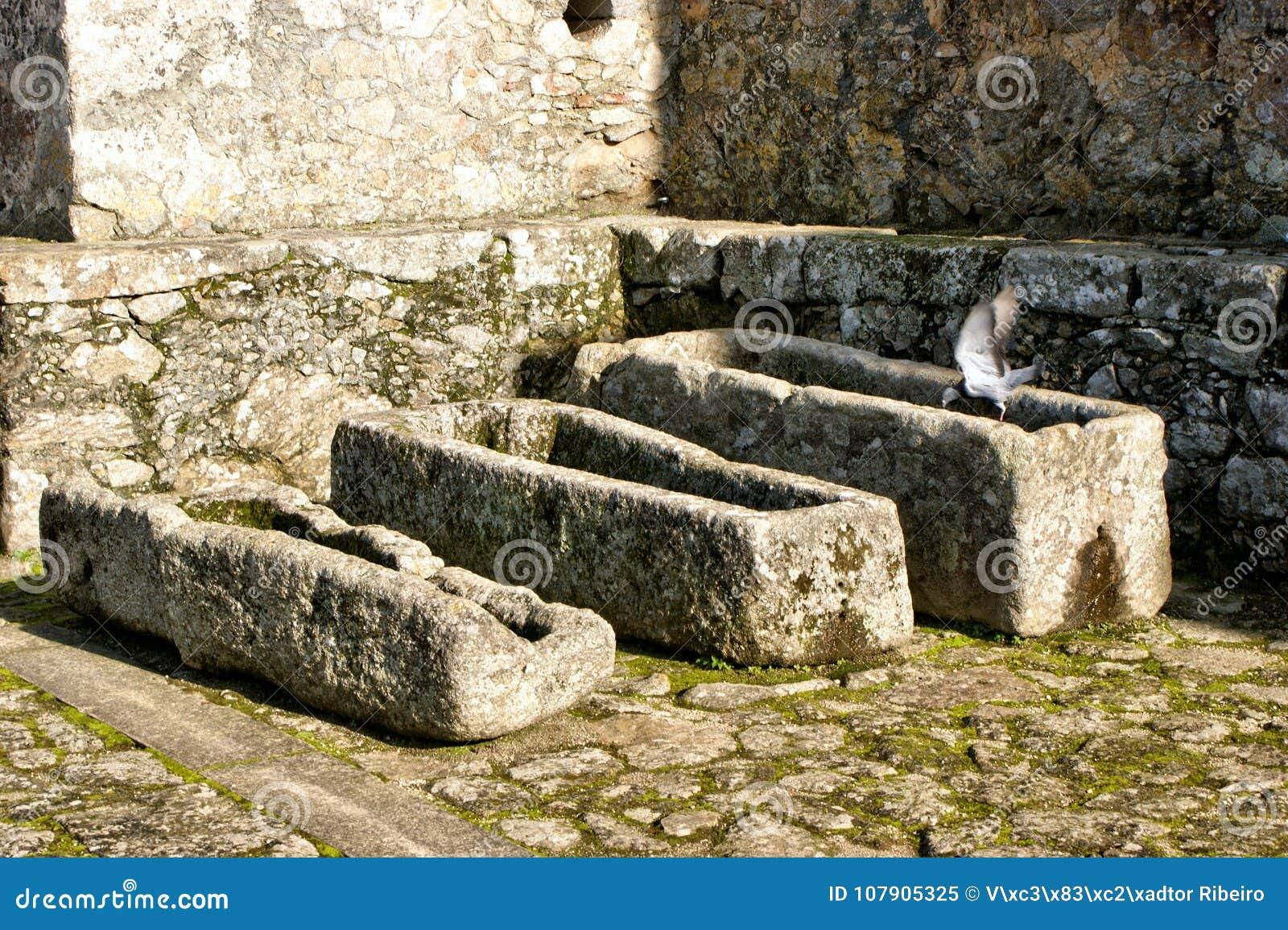 Ancient tombs in Santa Maria da Feira castle