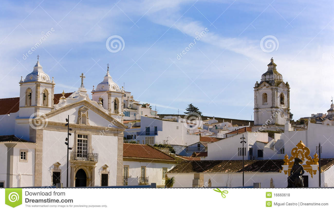 ancient town centre at lagos  algarve royalty free stock free lighthouse clipart black and white free lighthouse clipart black and white