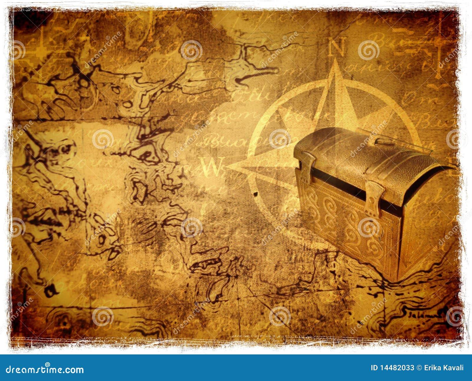Ancient Treasure Map Stock Photos Image 14482033