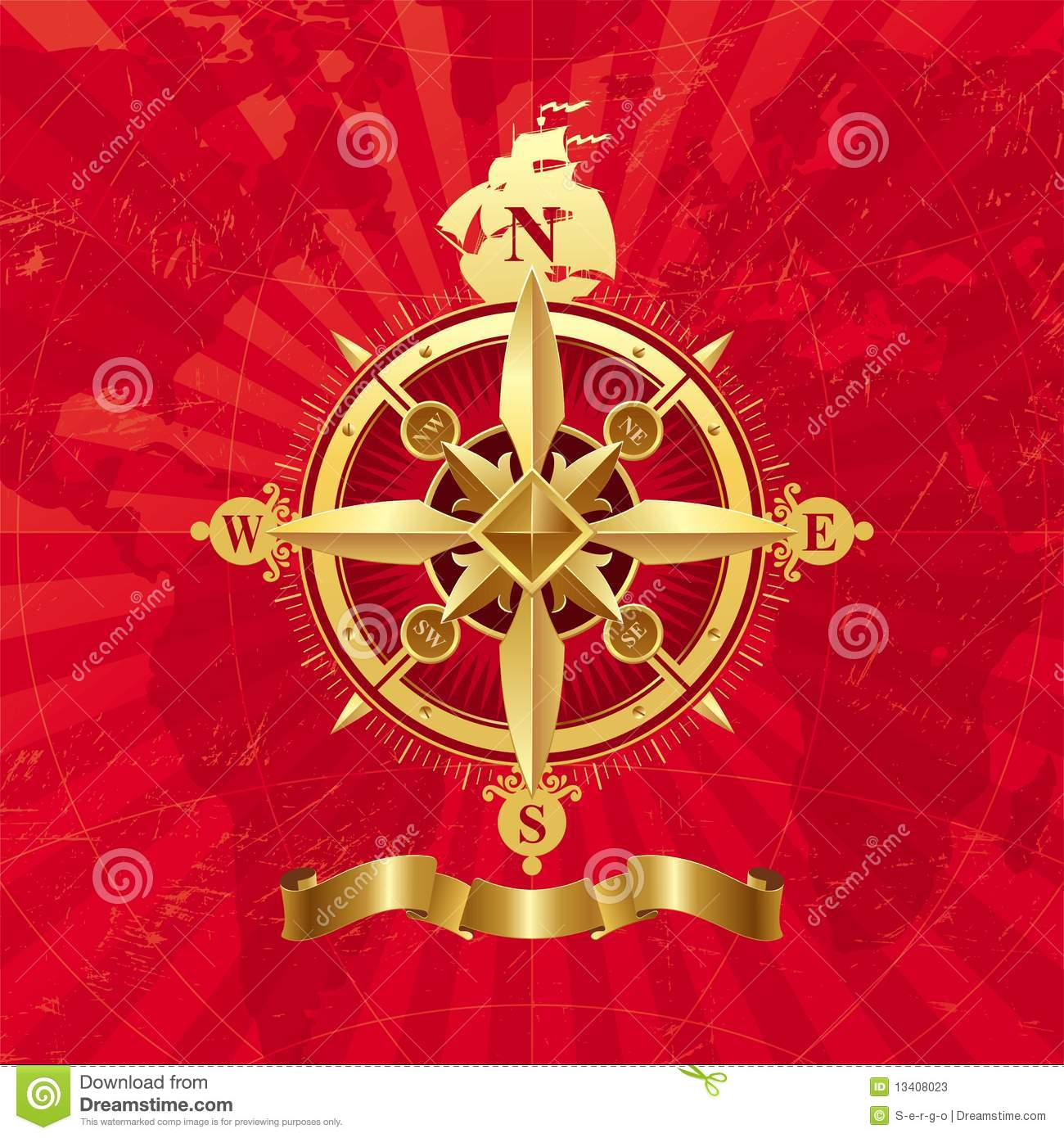 ancient vector compass rose stock vector