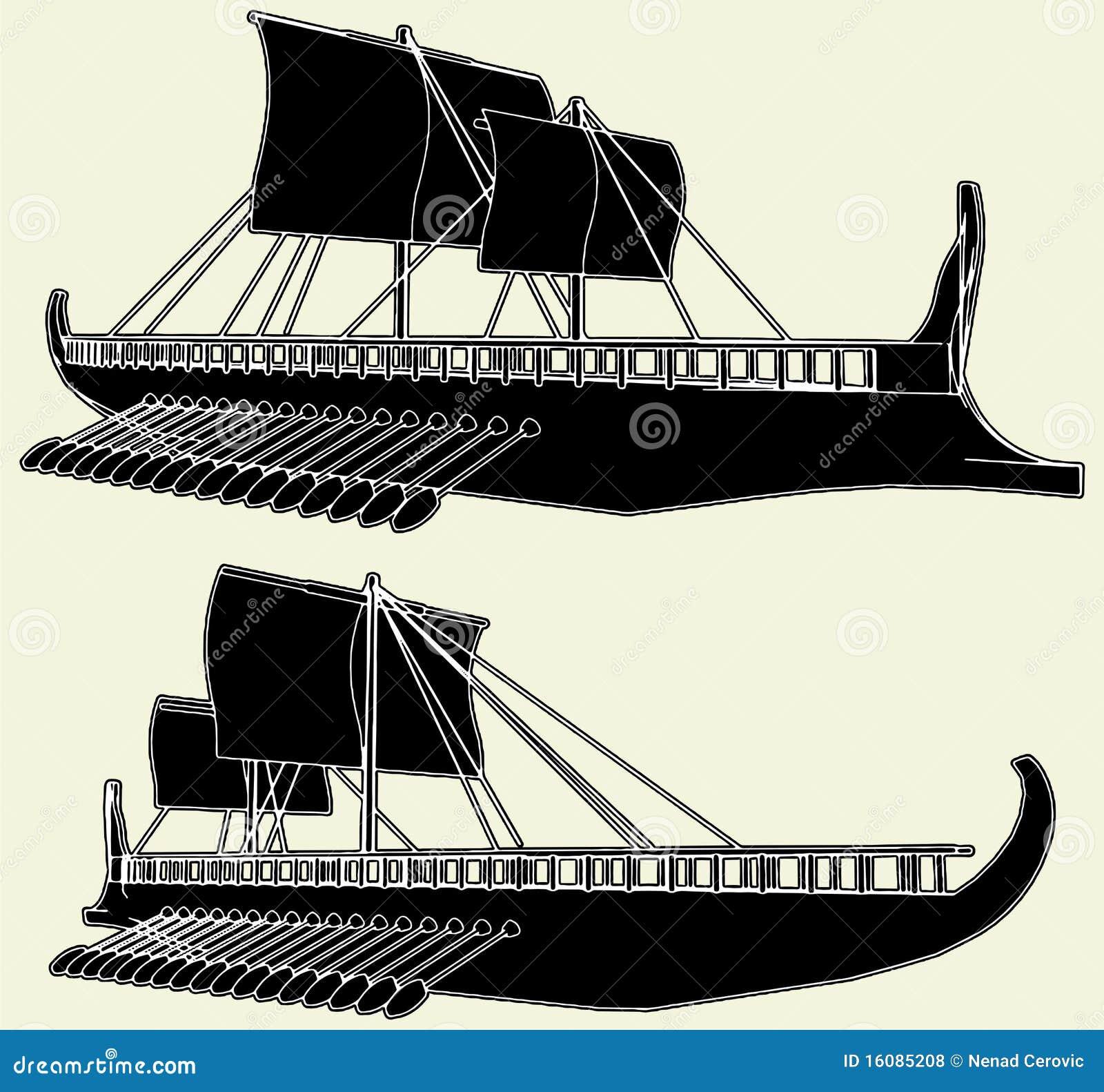 The Ancient Viking Ship Vector 01 Stock Vector ...