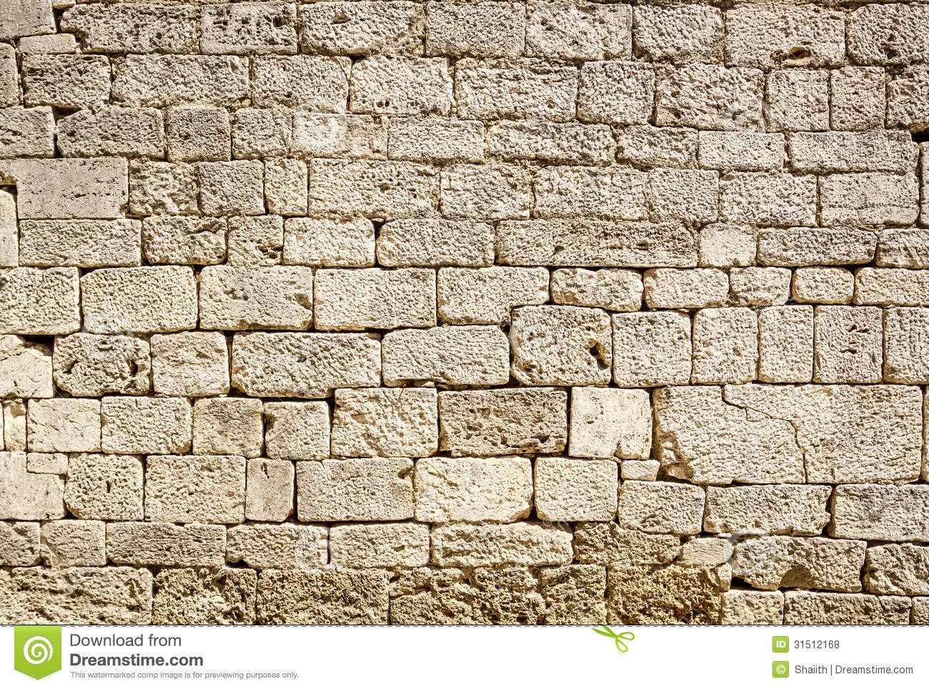 Ancient Stone Wall : Ancient wall built of white stone royalty free stock