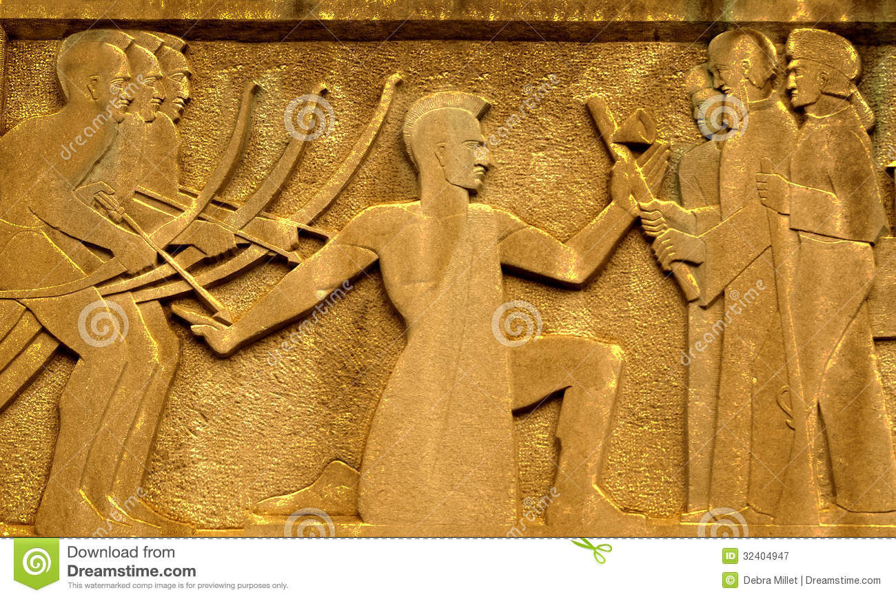 Ancient wall carving royalty free stock photography