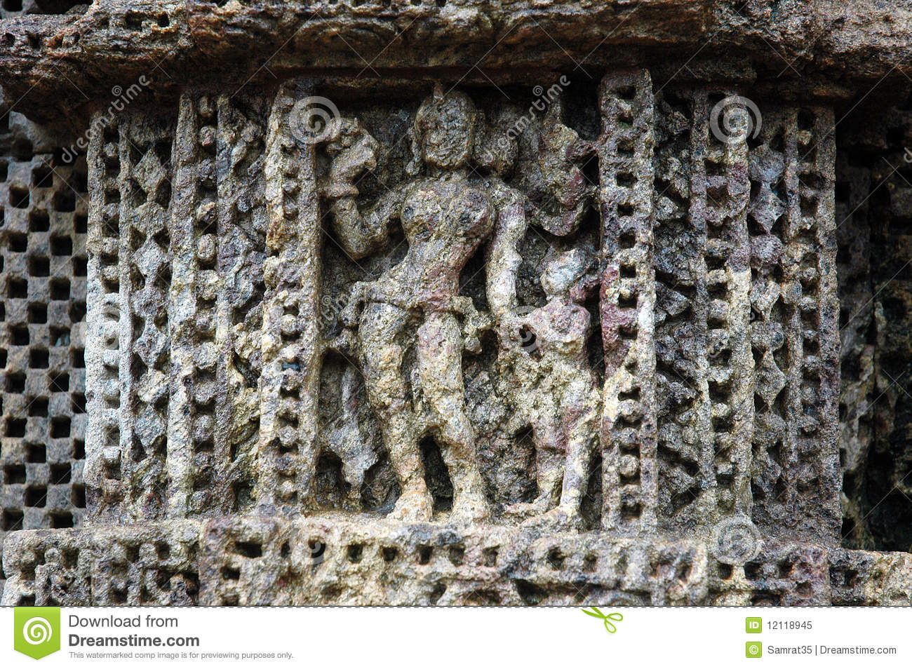 Ancient wall decoration of the sun temple of oriss stock for Ancient decoration