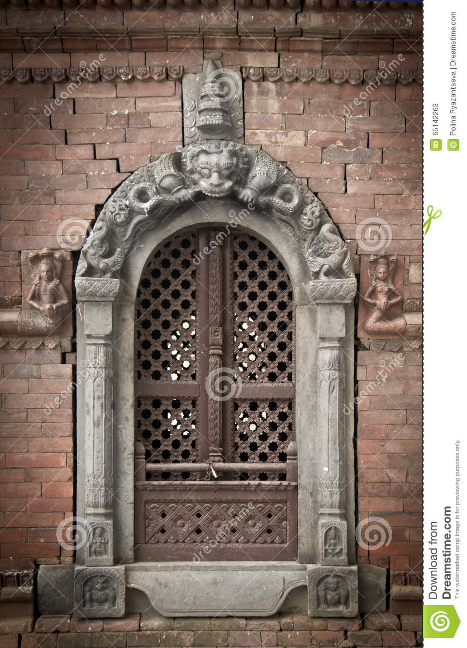 Ancient window in kathmandu stock photo image 65142263 for Window design in nepal