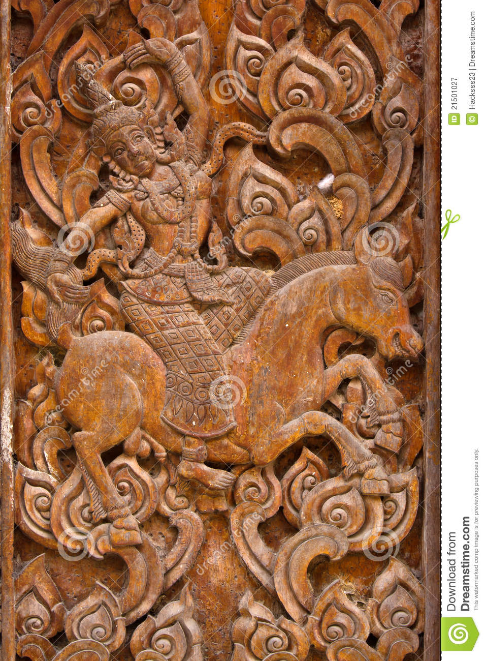 Ancient Wood Carvings Ramayana Stock Image Image Of