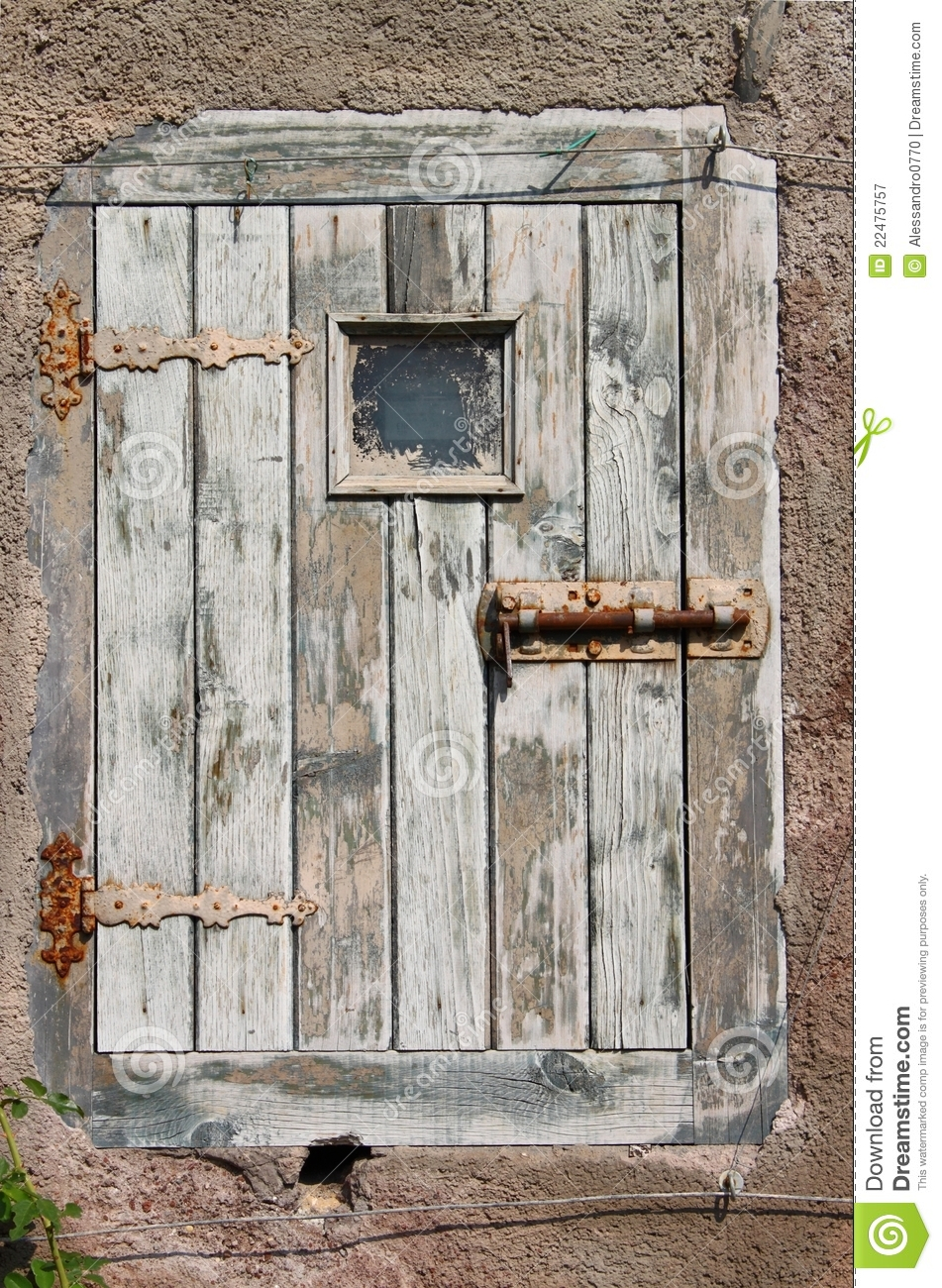 Ancient Wooden Door Royalty Free Stock Photography Image