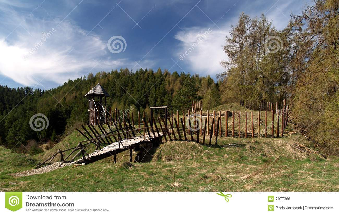 Ancient Wooden Fort Royalty Free Stock Image Image 7977366