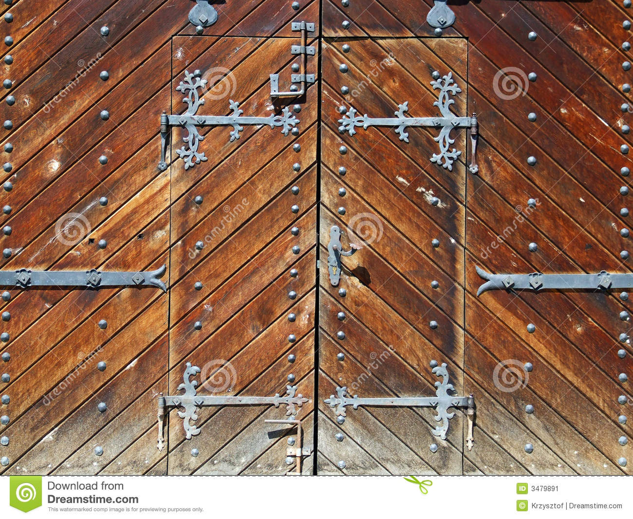 Ancient wooden gate
