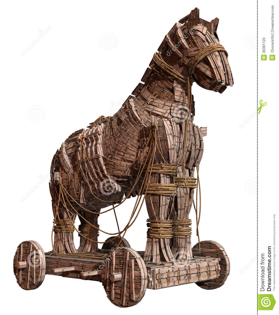 Ancient Wooden Horse Stock Photo - Image: 36381120