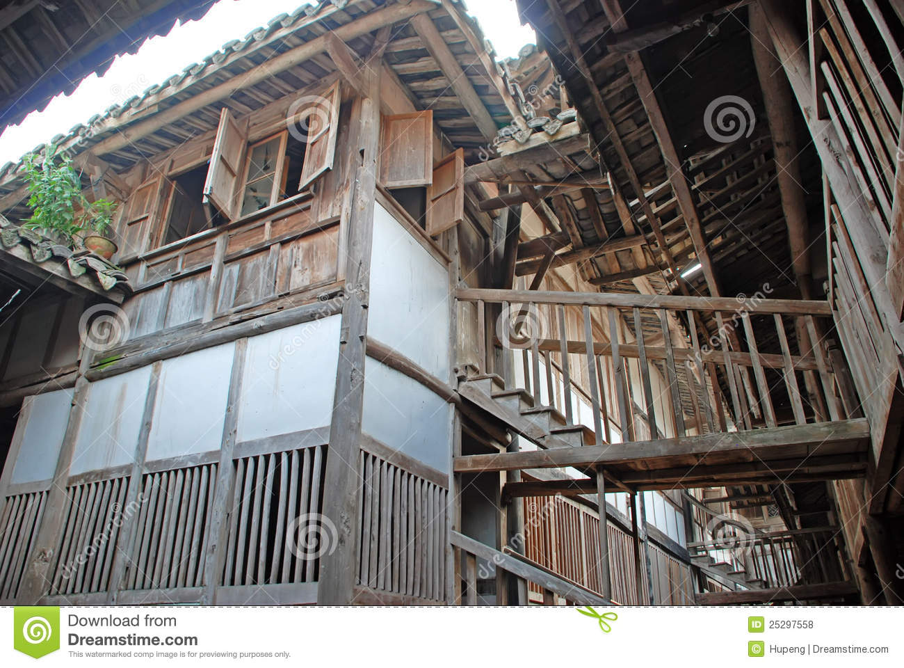 Ancient Wooden House In China Royalty Free Stock Photos - Image: 25297558
