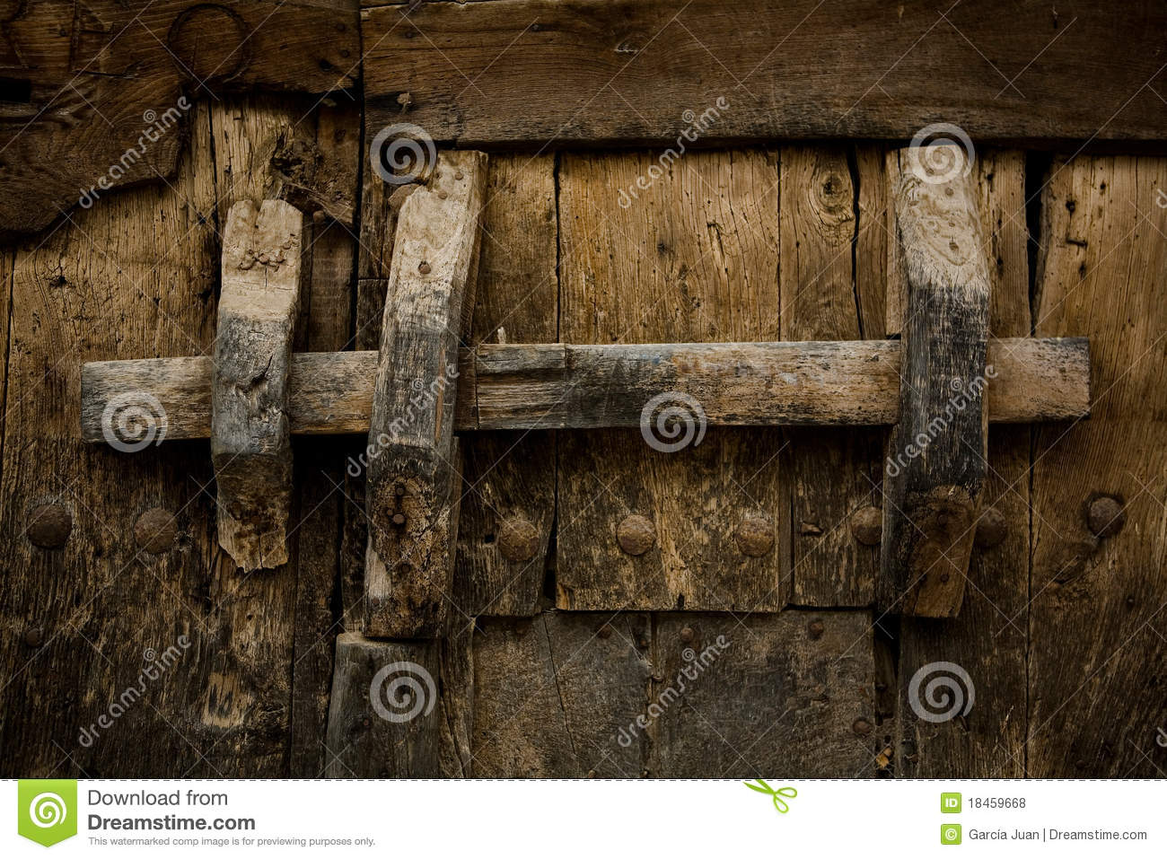 Ancient Wooden Lock Royalty Free Stock Photos Image