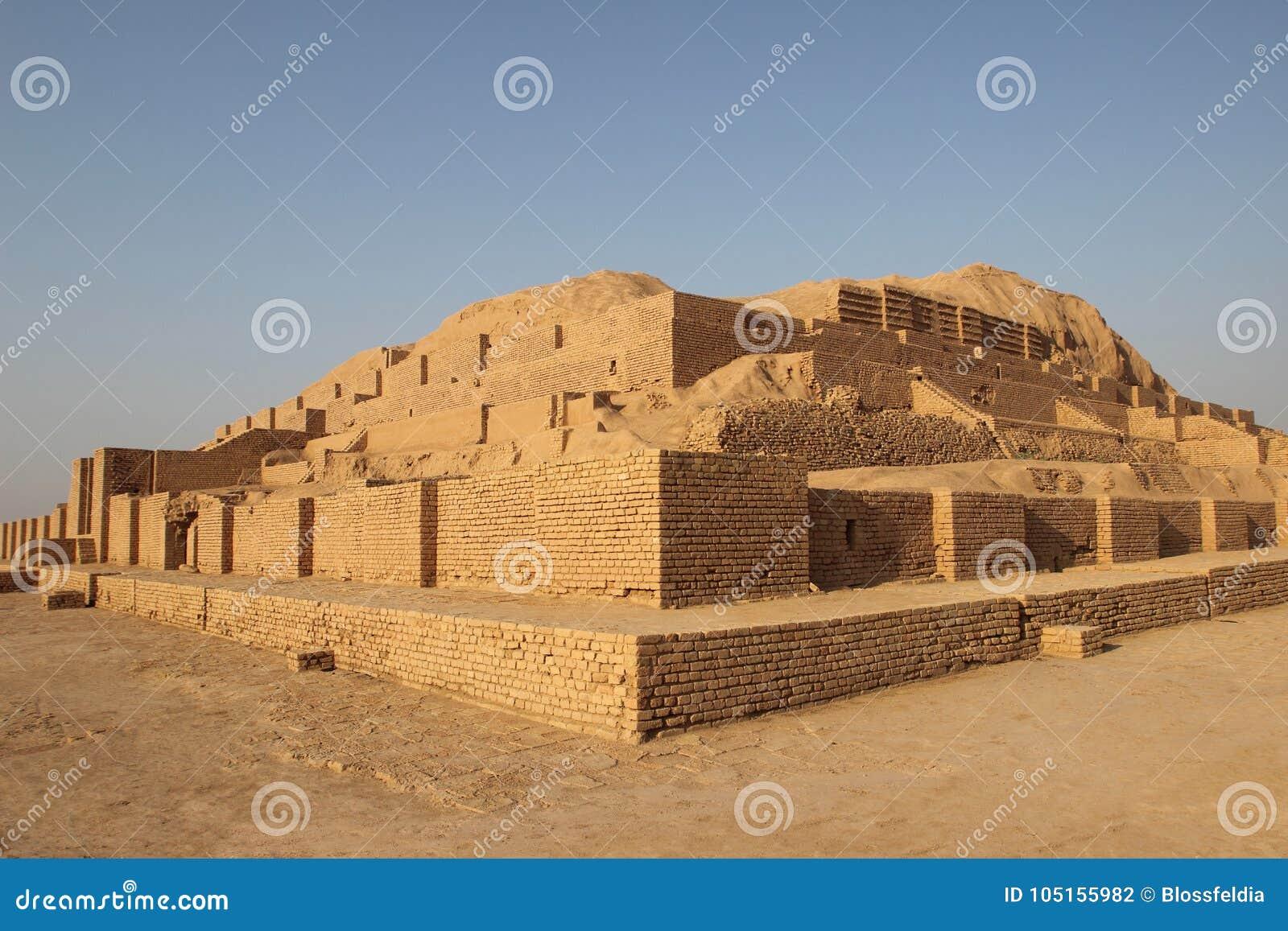 The ancient ziggurat Chogha Zanbil, Iran