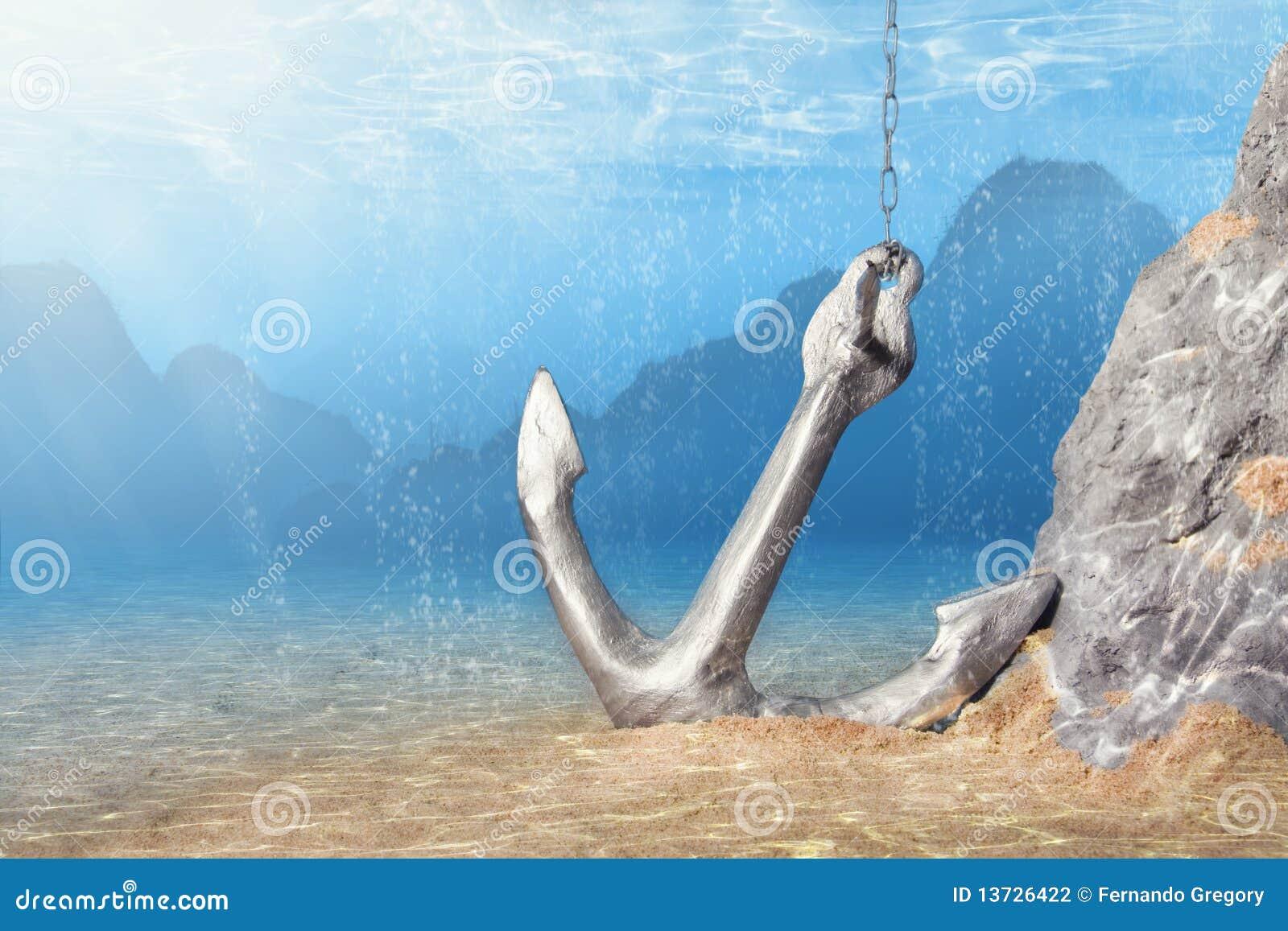 Ancla subacuática