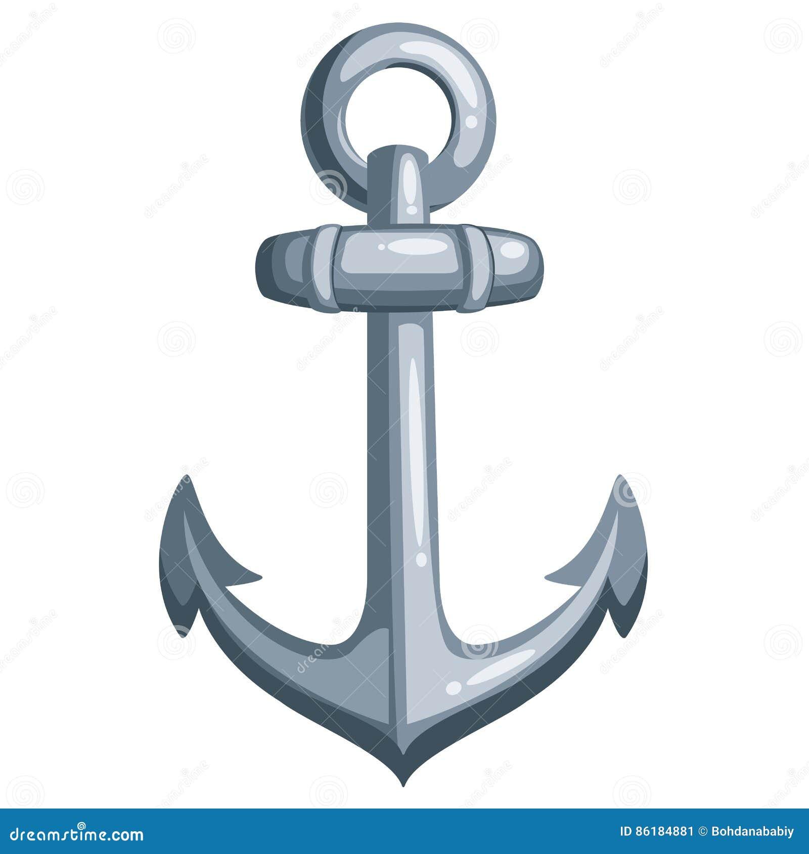 Ancre de bateau de bande dessin e illustration de vecteur illustration du l ment cartoon - Dessin ancre bateau ...