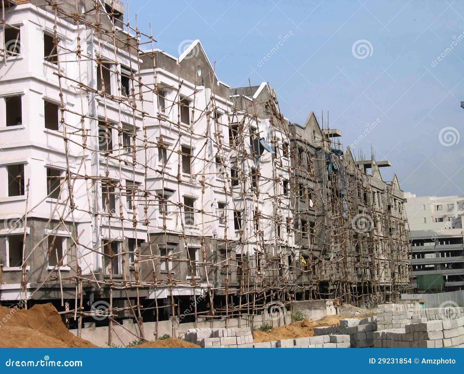 Download Andaime indiano imagem de stock editorial. Imagem de scaffolding - 29231854