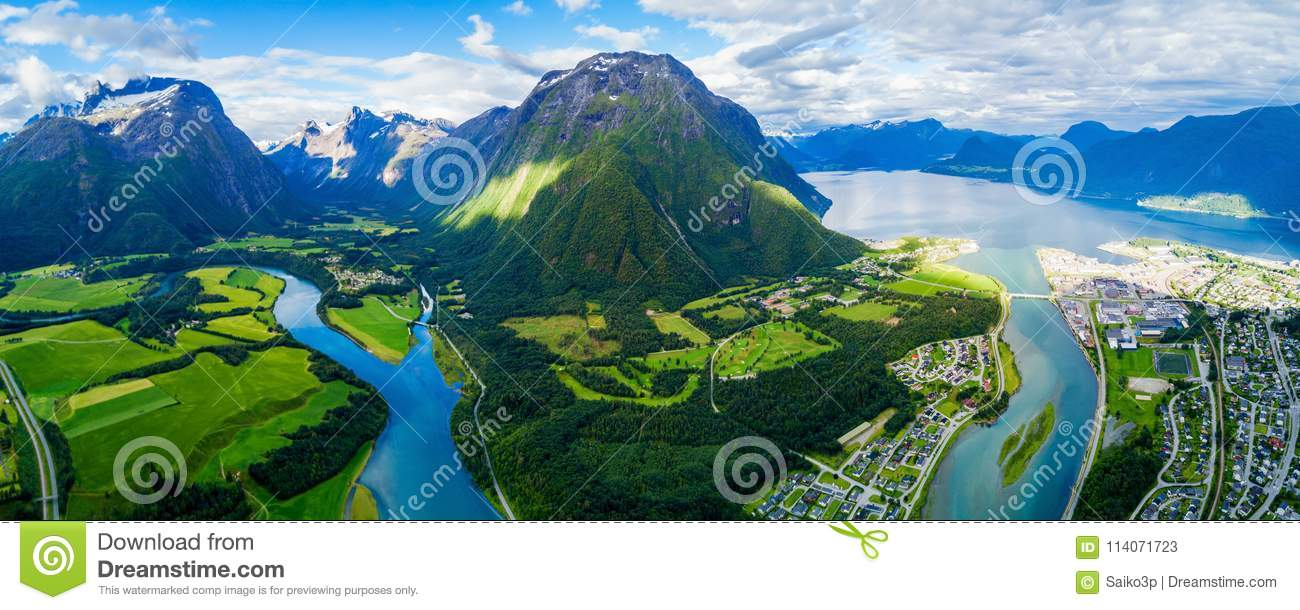 Andalsnes stad i Norge