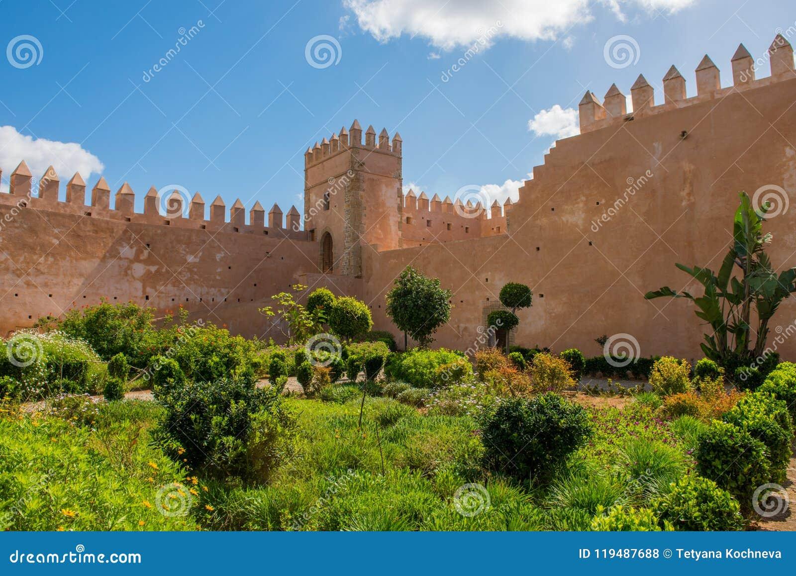 Andalusian Gardens In Udayas Kasbah Rabat Morocco North Africa Stock ...