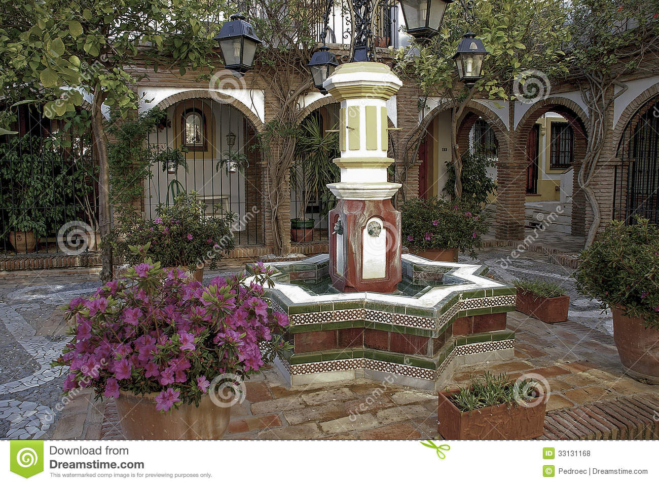 Andalusian Patio Royalty Free Stock Photos Image 33131168 : andalusian patio typical ornate spanish 33131168 <strong>Sitting in a</strong> Chair from www.dreamstime.com size 1300 x 958 jpeg 332kB