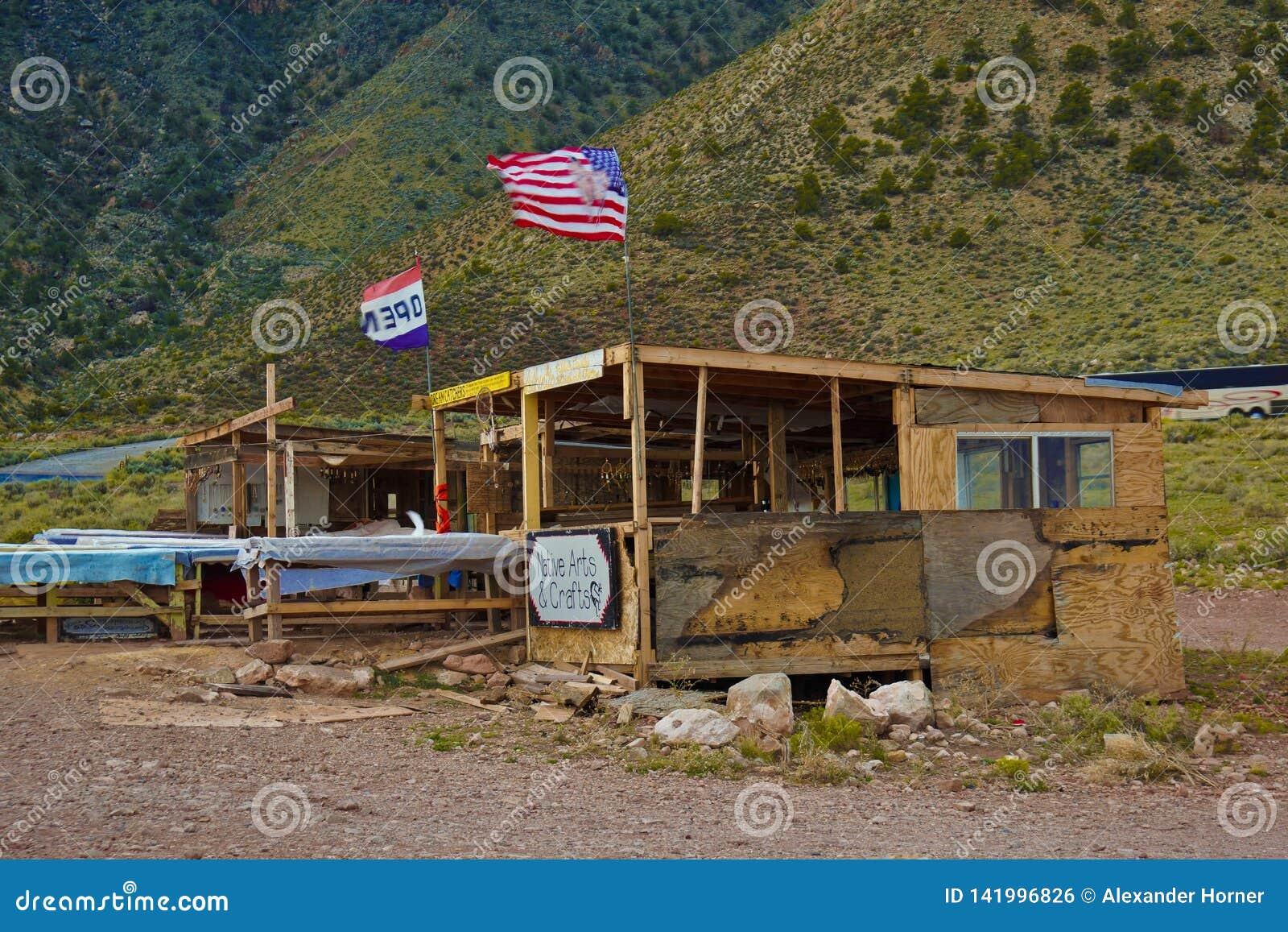 Andenkenspeicher des amerikanischen Ureinwohners am Grand Canyon