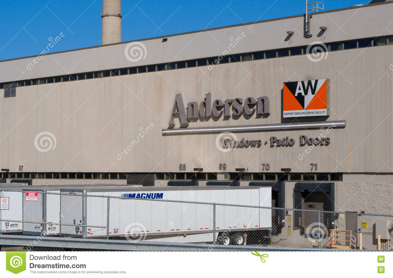 andersen windows manufacturing plant editorial stock photo
