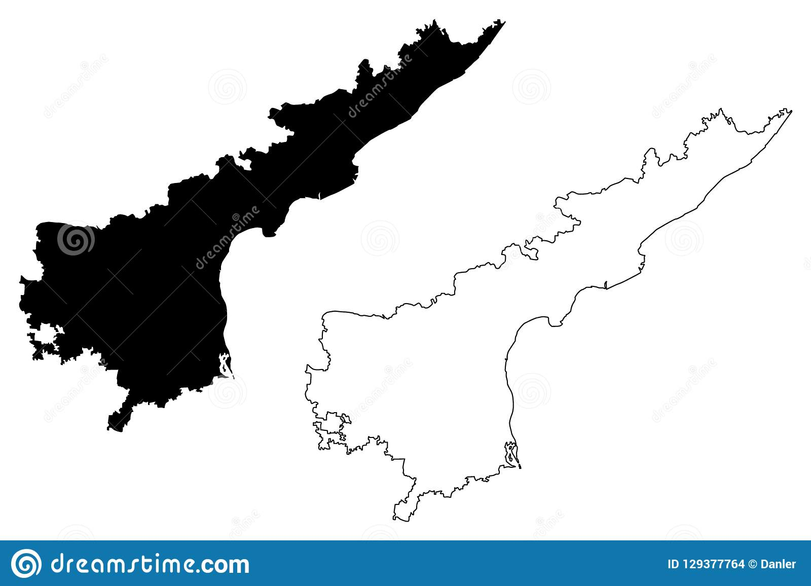 Andhra Pradesh map vector stock vector. Illustration of isolated ...