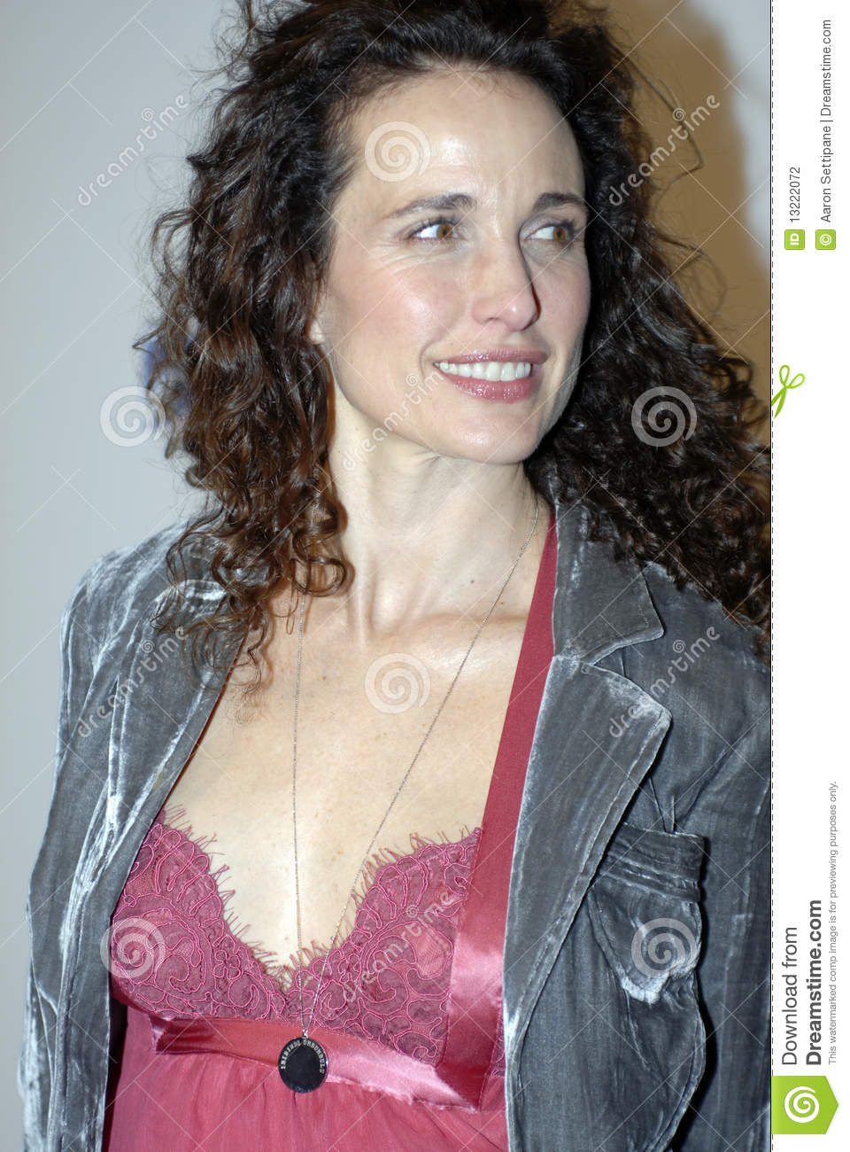 Andie Macdowell Foto andie macdowell on the red carpet editorial photography