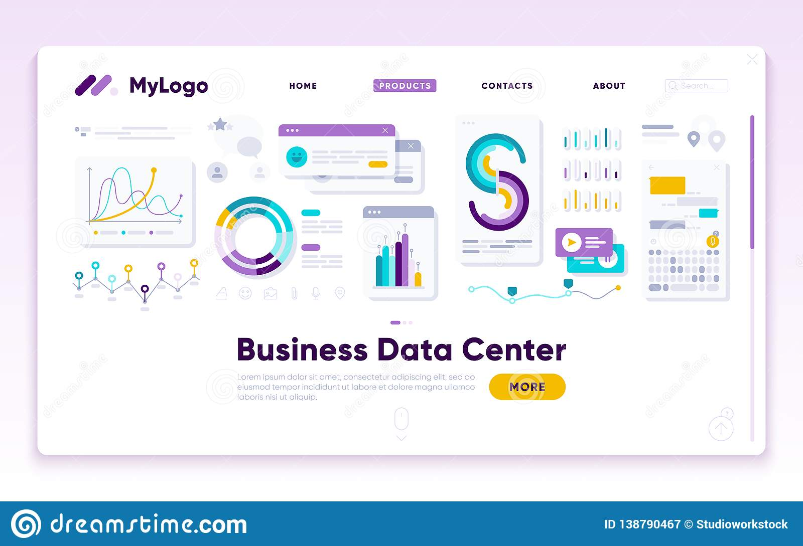 Anding Page Template  Digital Marketing Analyst Stock