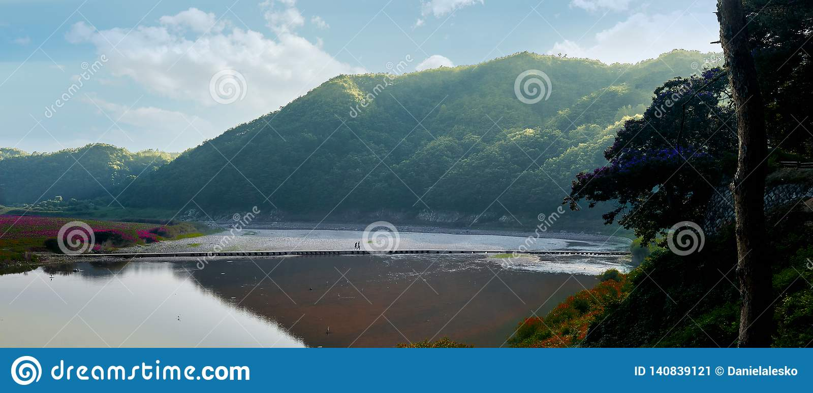 The mountains and river of Andong, South Korea