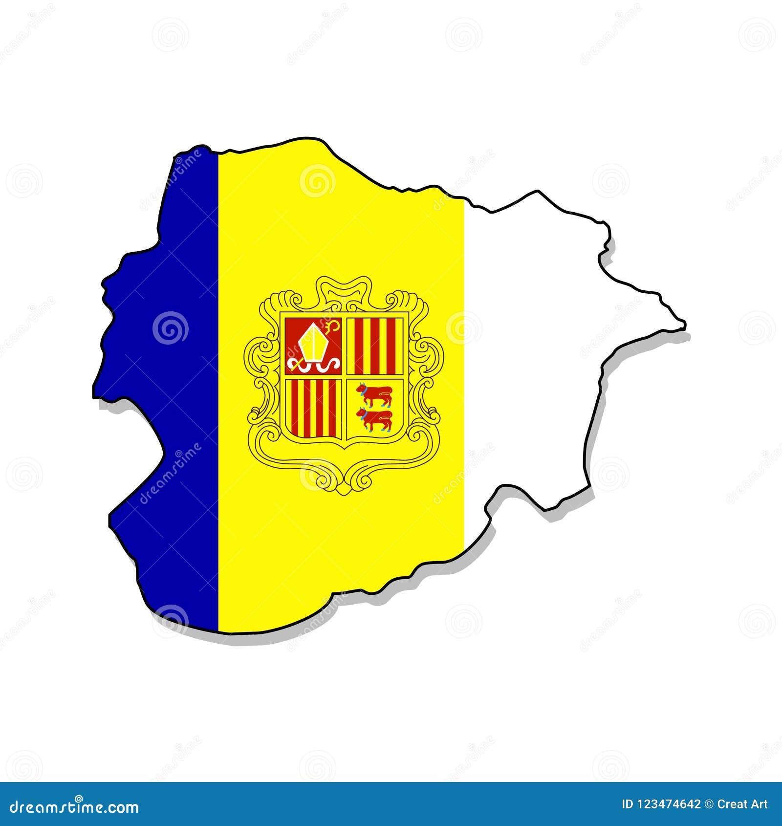 Andorra Kaart van de vectorillustratie van Andorra