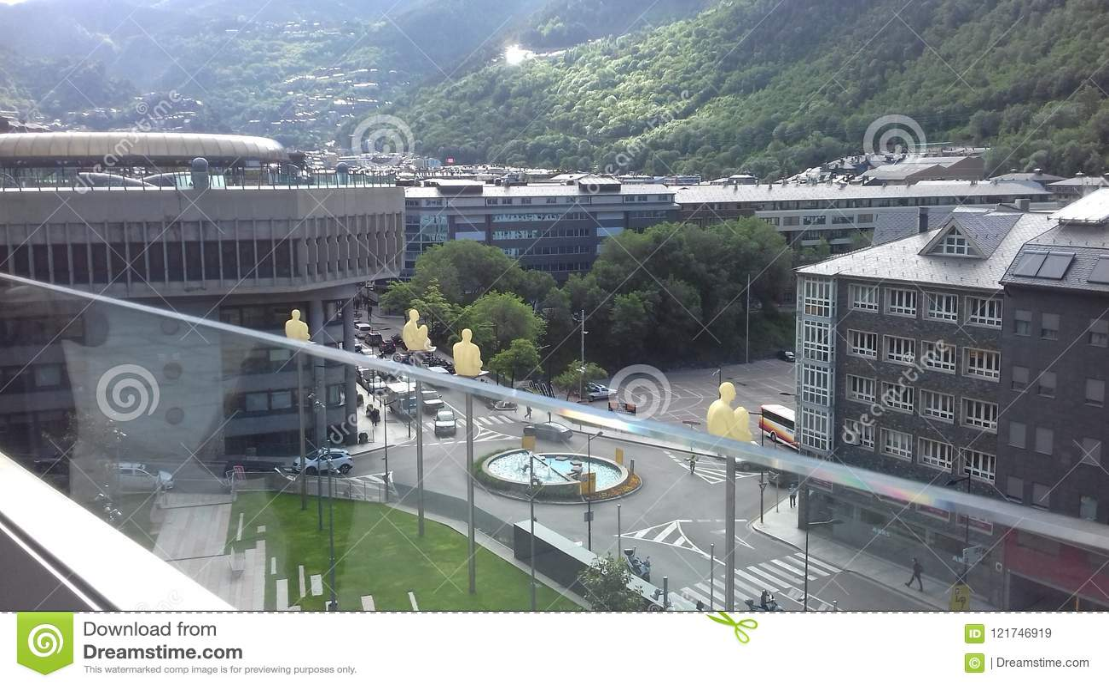 Andorra los angeles Vella - kapitał kapitał chujący w Pyrenees