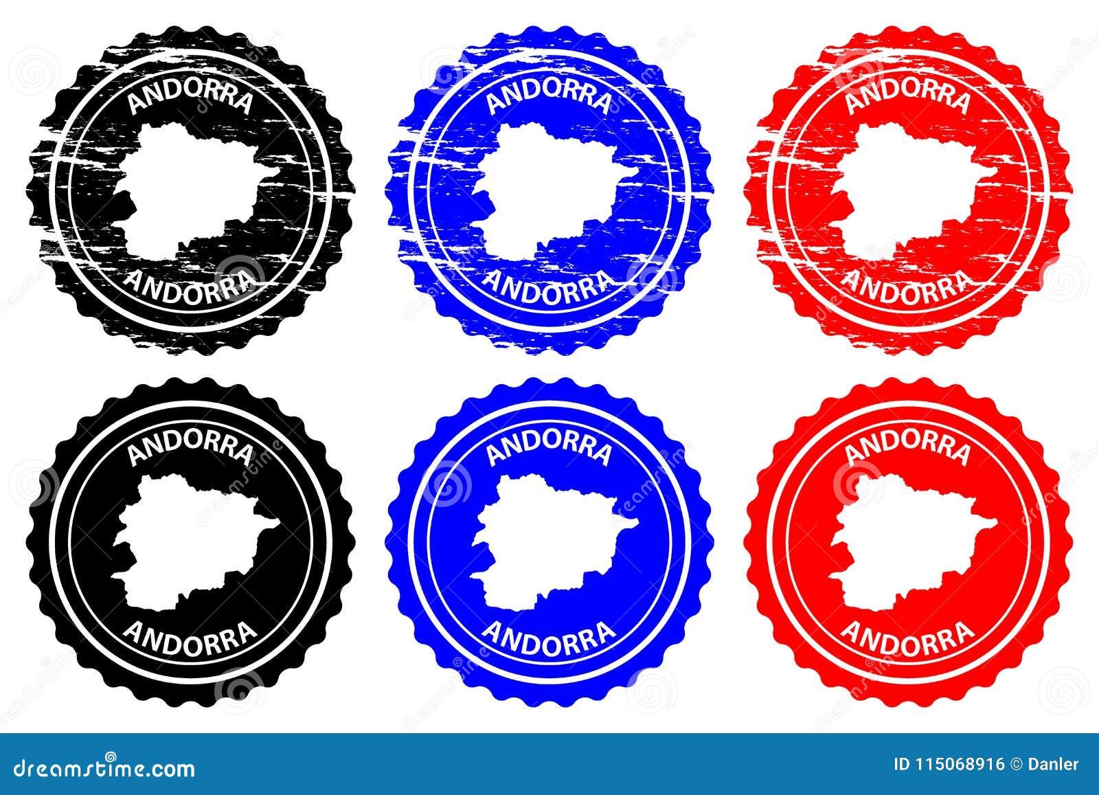 Andorra Rubber Stamp Stock Vector Illustration Of Passport