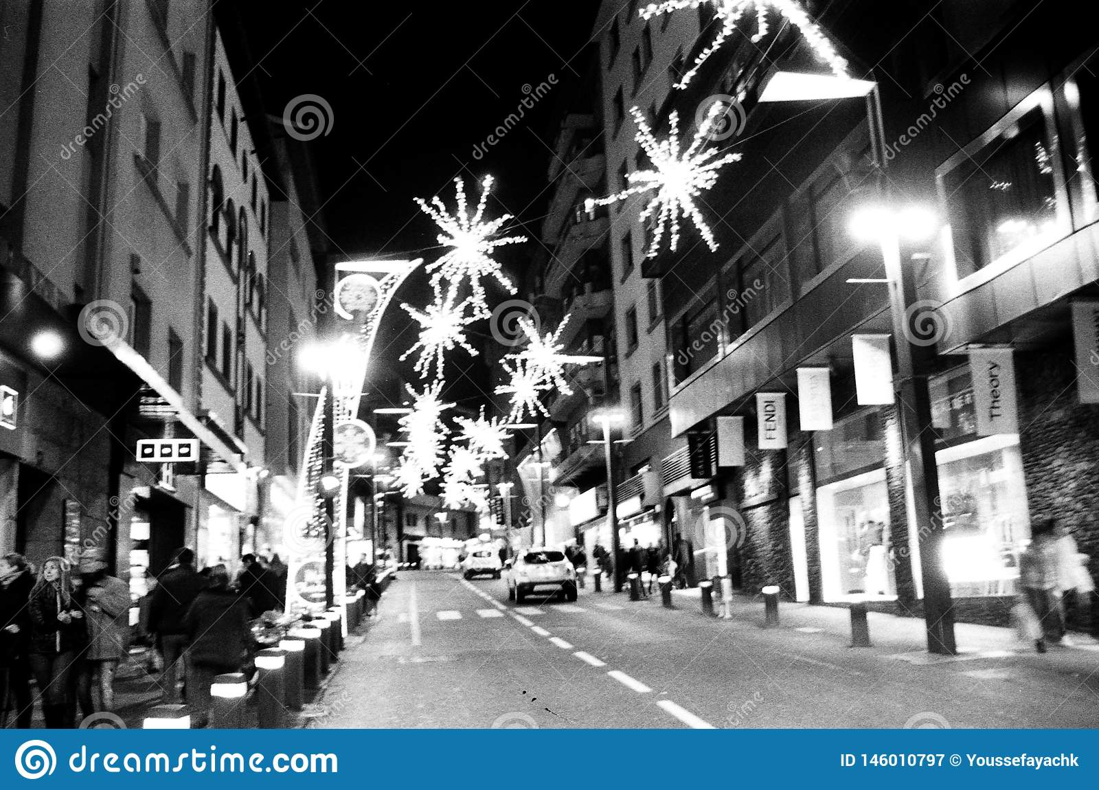 Andorra streets black and white