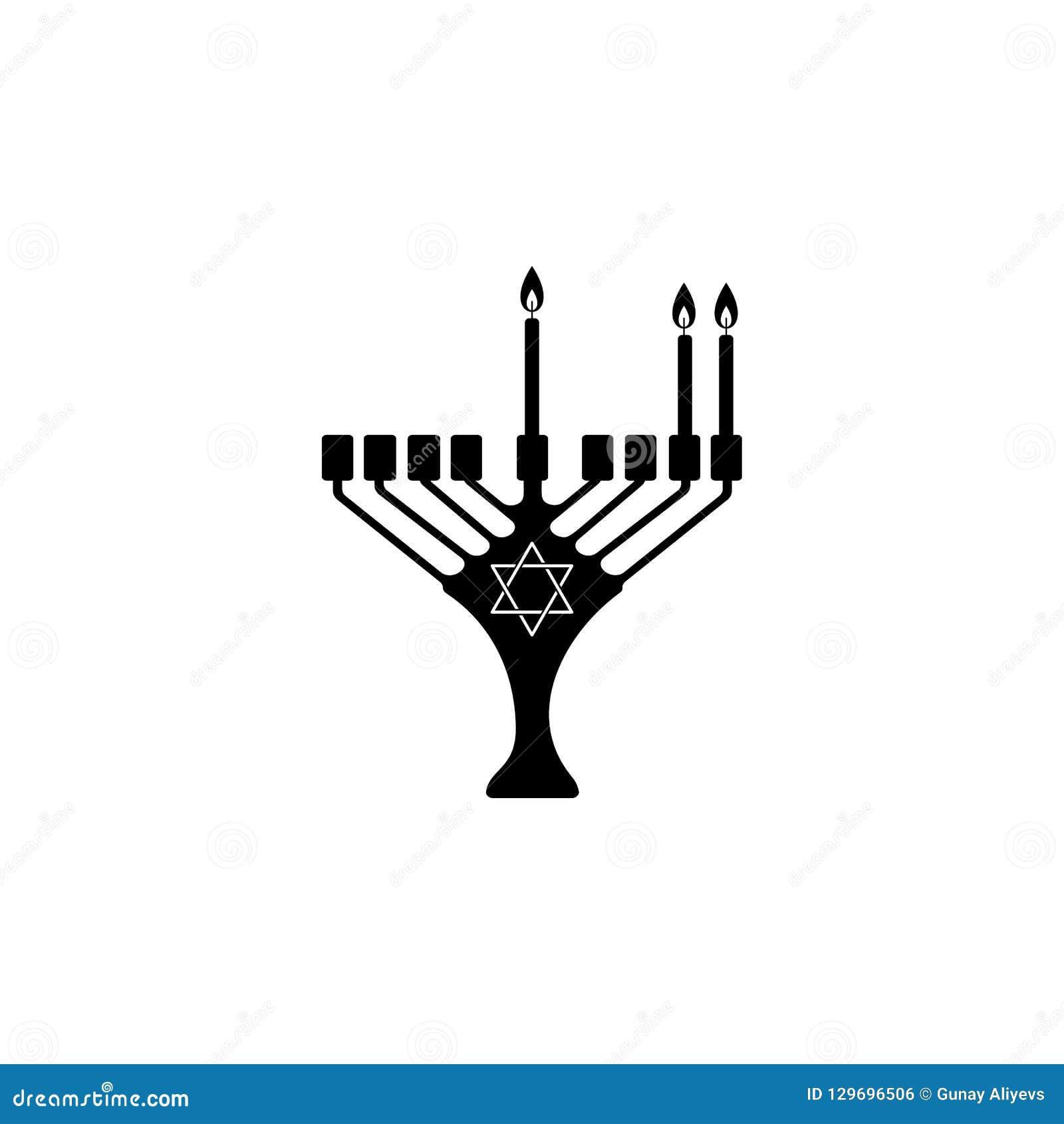 Andra natt av Chanukkahsymbolen Beståndsdel av den hanukkah symbolen för mobila begrepps- och rengöringsdukapps Detaljerad andra
