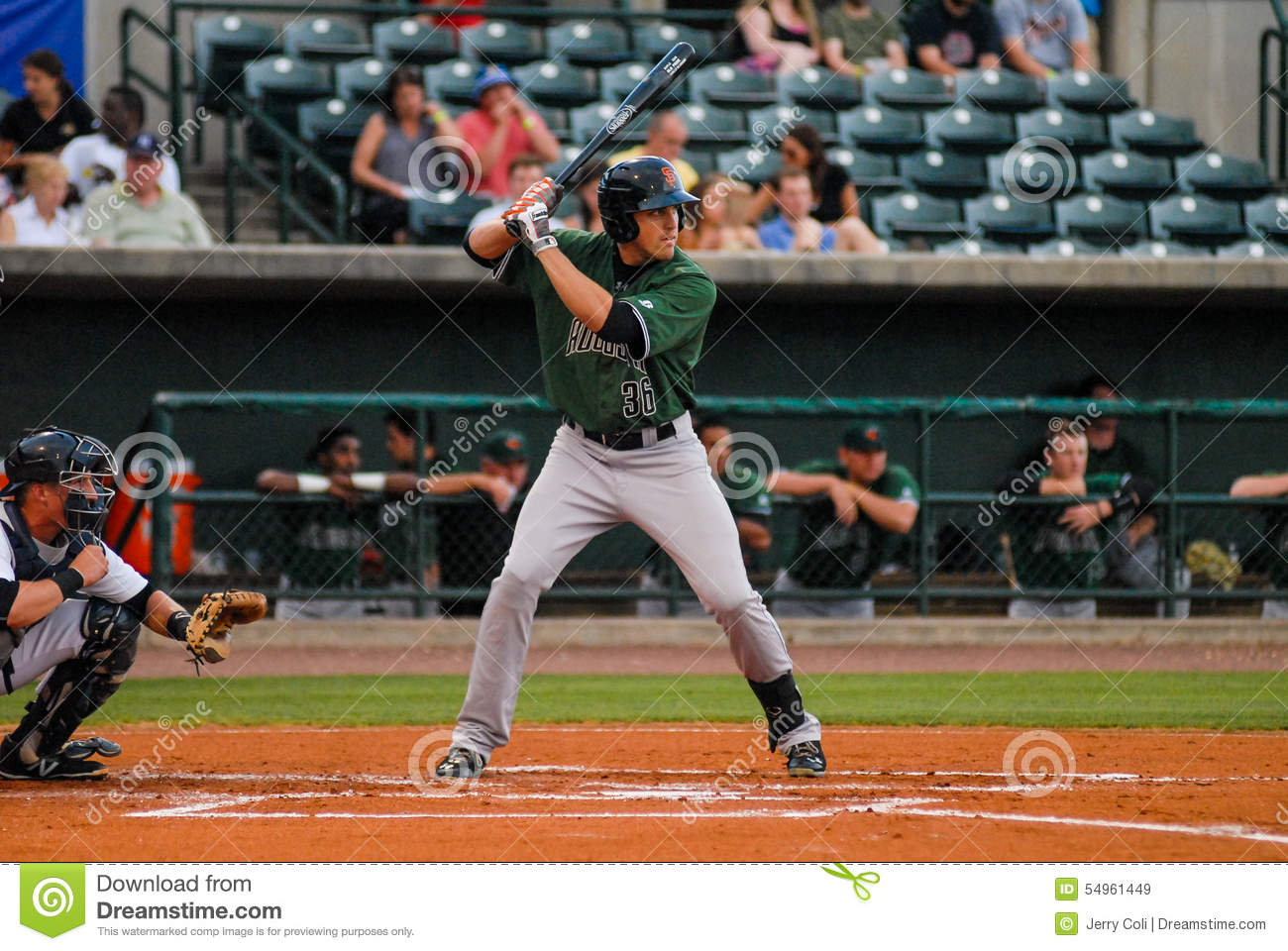 Augusta GreenJackets, OF Andrew Cain Editorial Stock Image - Image ...