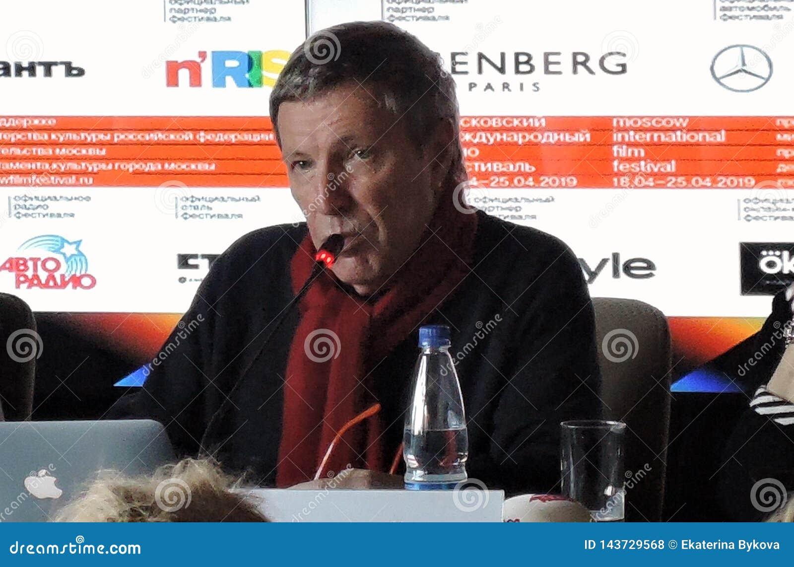 Andrey Plakhov bij Eerste officiële persconferentie van Internationaal de Filmfestival van 41ste Moskou