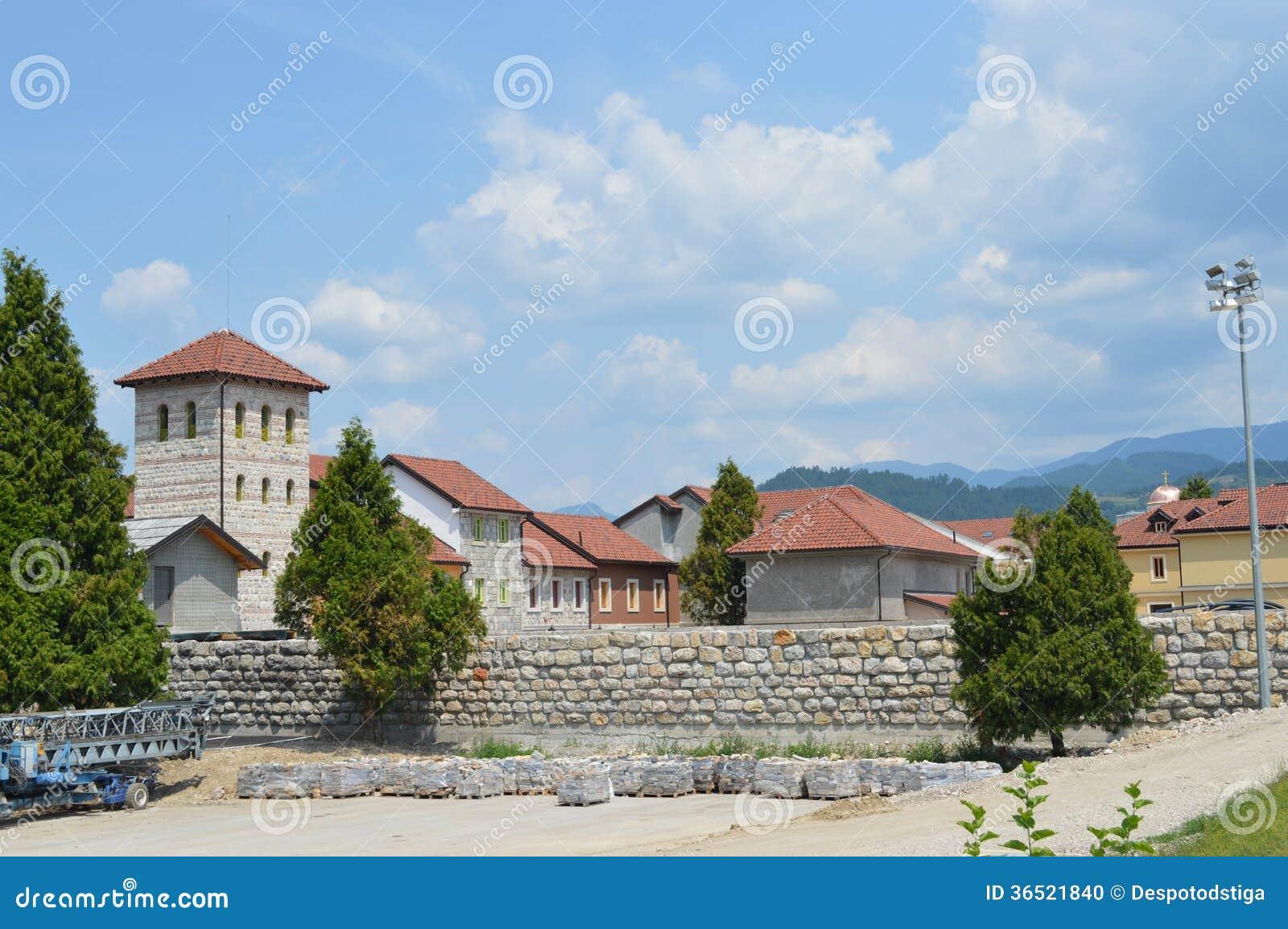 andric stadt von visegrad bosnien und herzegowina stockfoto bild 36521840. Black Bedroom Furniture Sets. Home Design Ideas