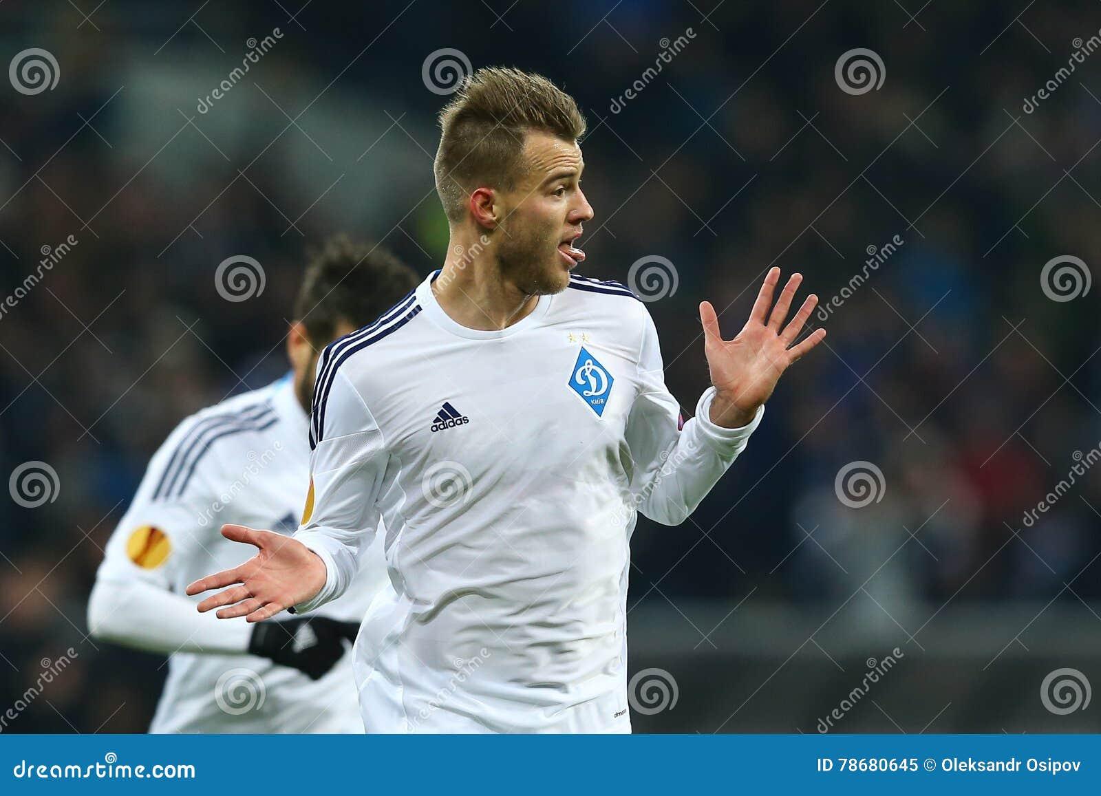 Andriy Yarmolenko Celebrates Scored Goal, UEFA Europa ...