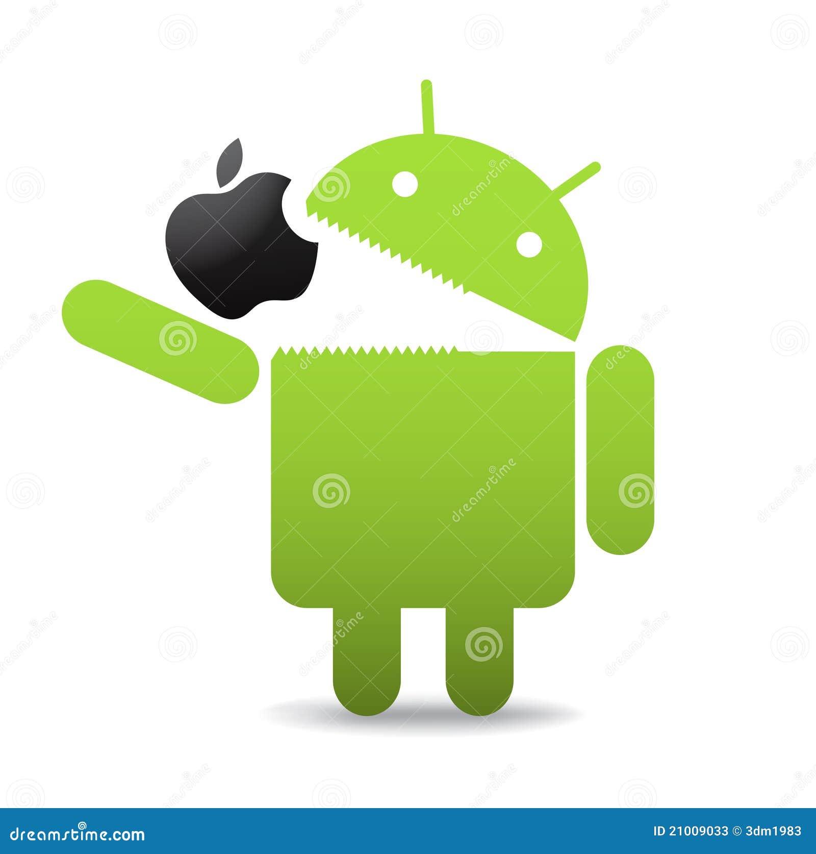 Androïde avec la pomme