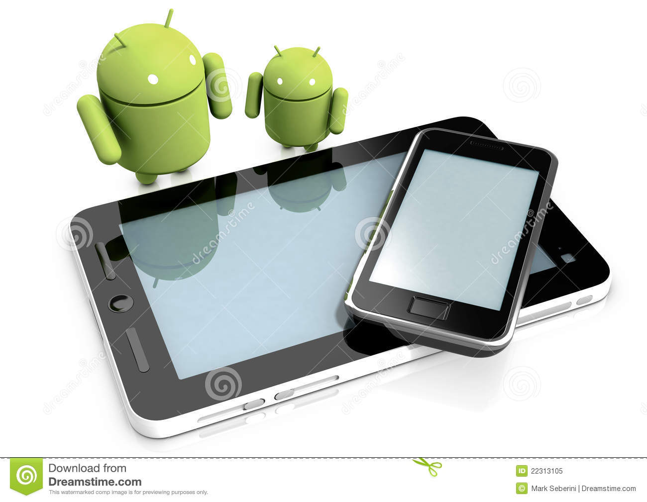 Android characters and devices