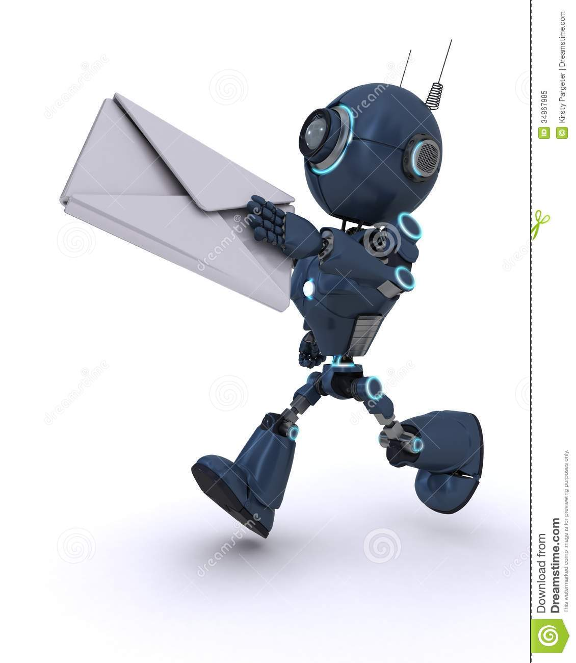 Android delivering a letter
