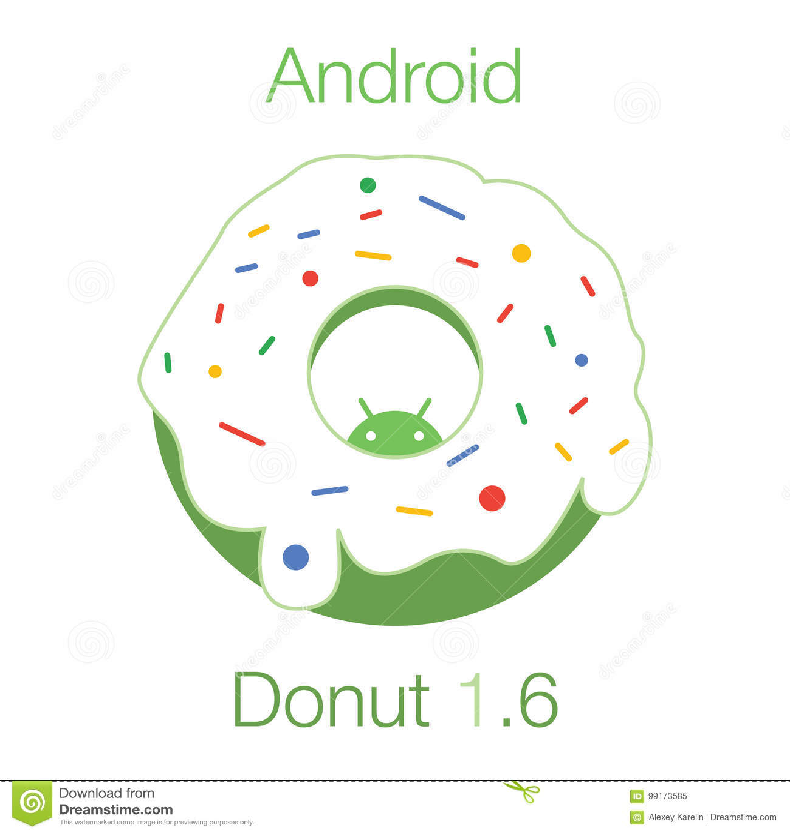 Android-Donut 1 Flacher Vektor 6