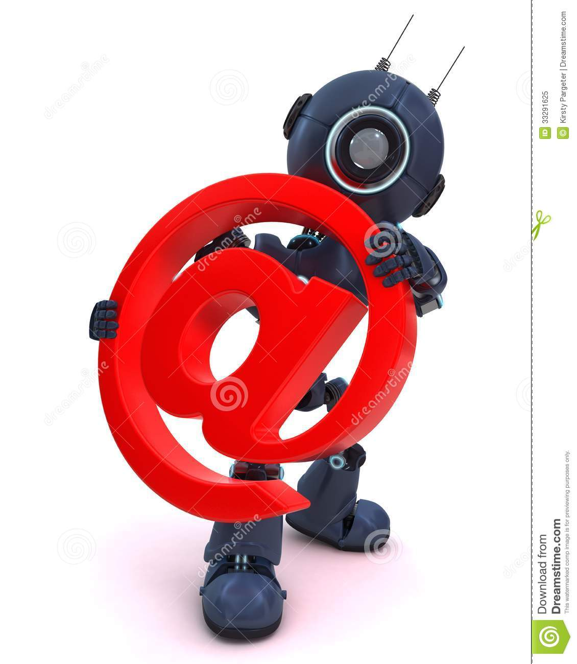 Android with email @ symbol