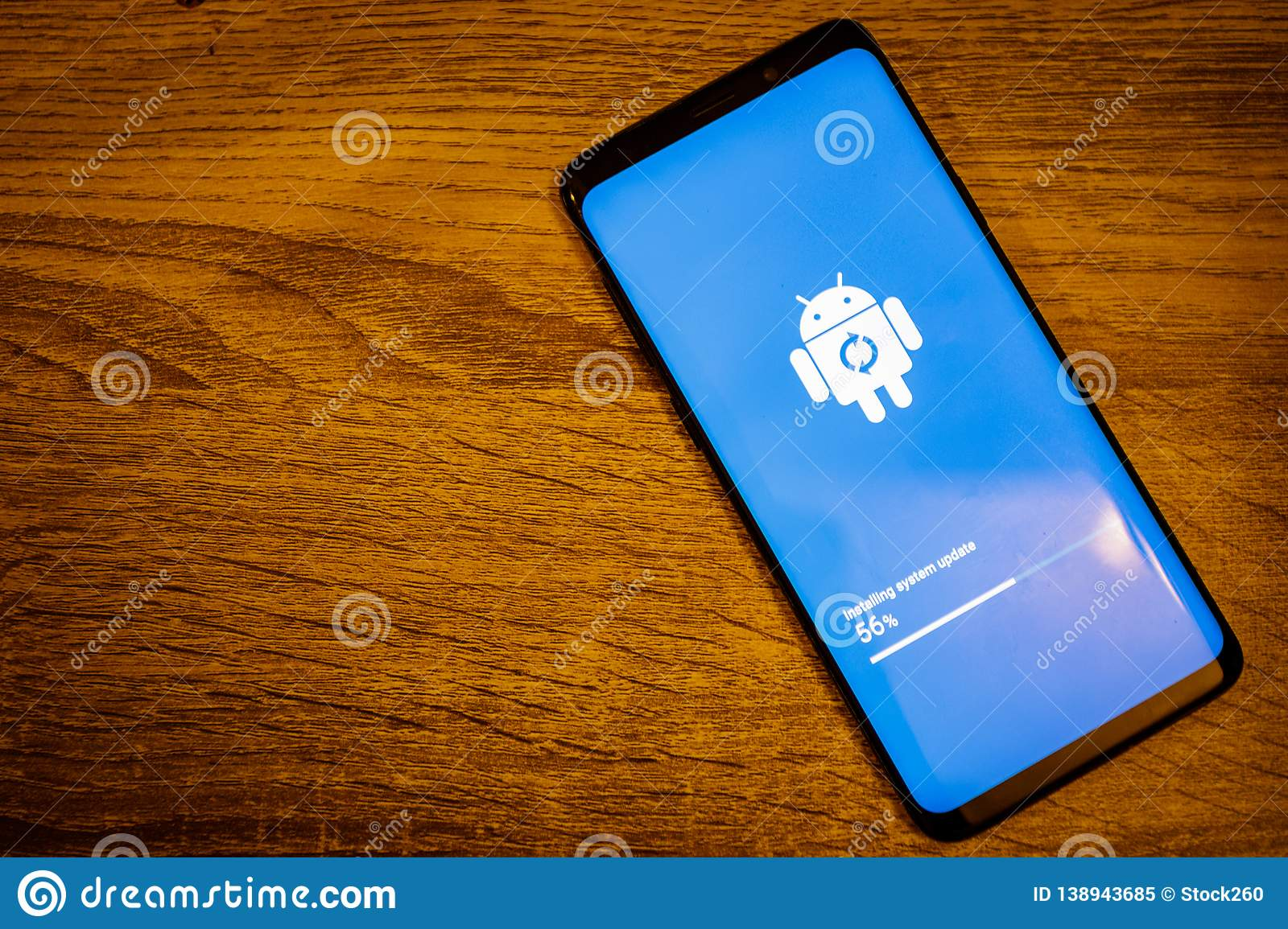 Android Installing System Update Editorial Image - Image of