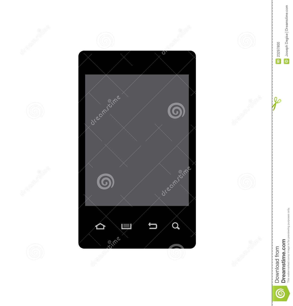 Android Smart Phone Vector Stock Photo - Image: 23297800