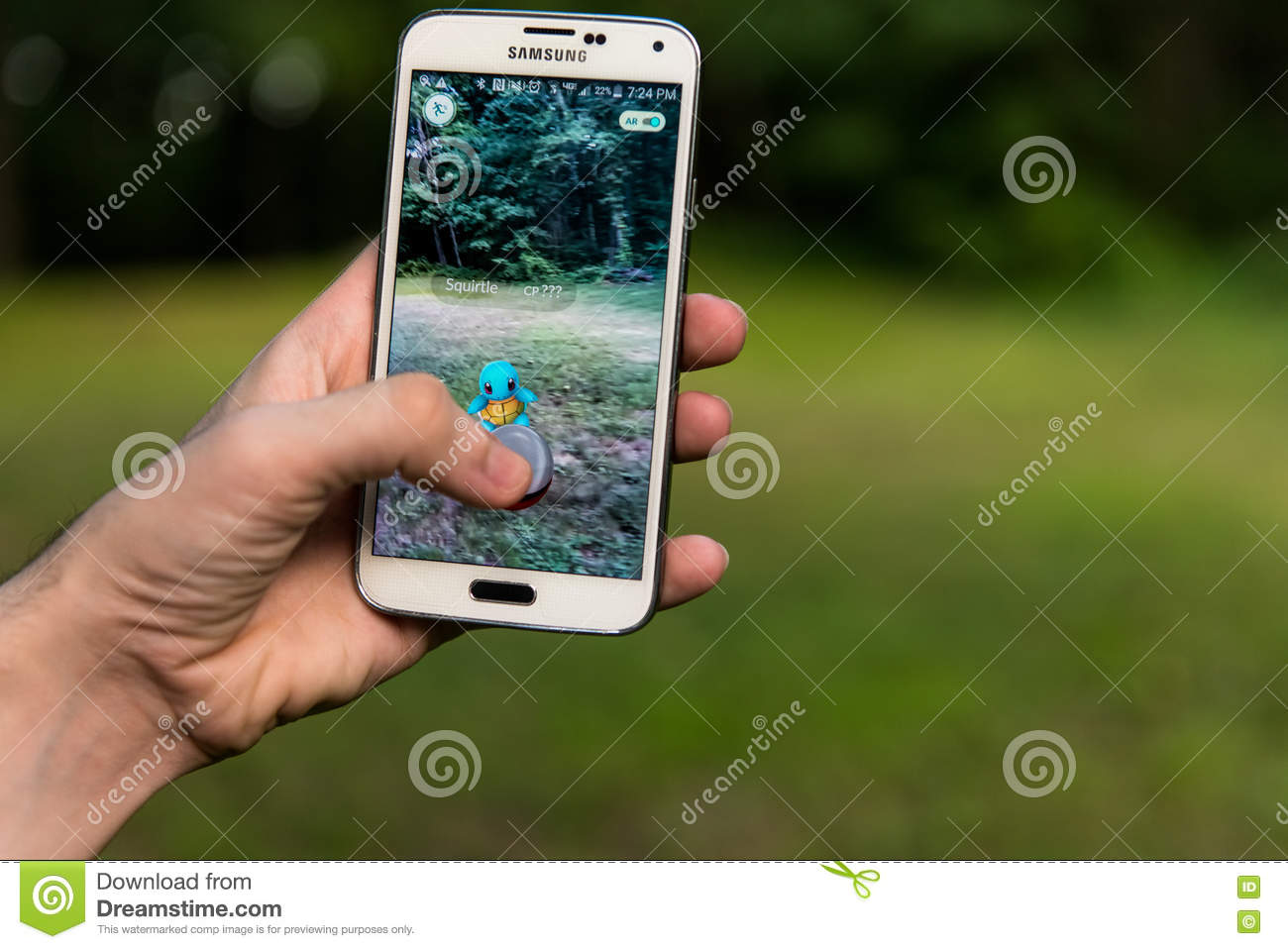 Android User Playing Pokemon Go Editorial Image - Image of