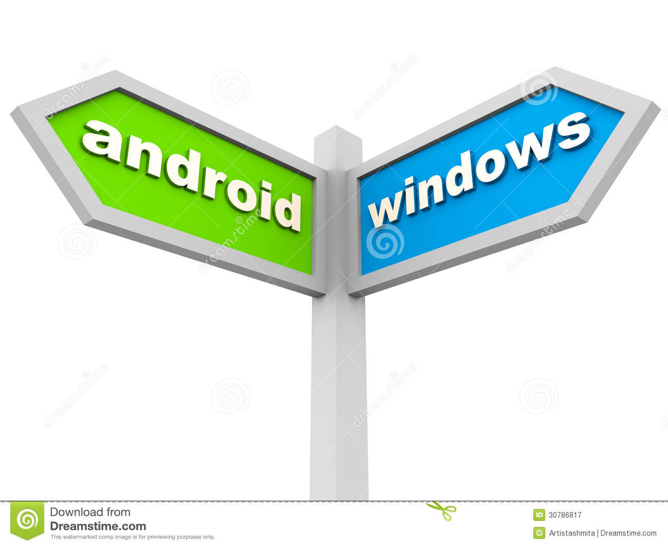 Android vs windows editorial photography image 30786817