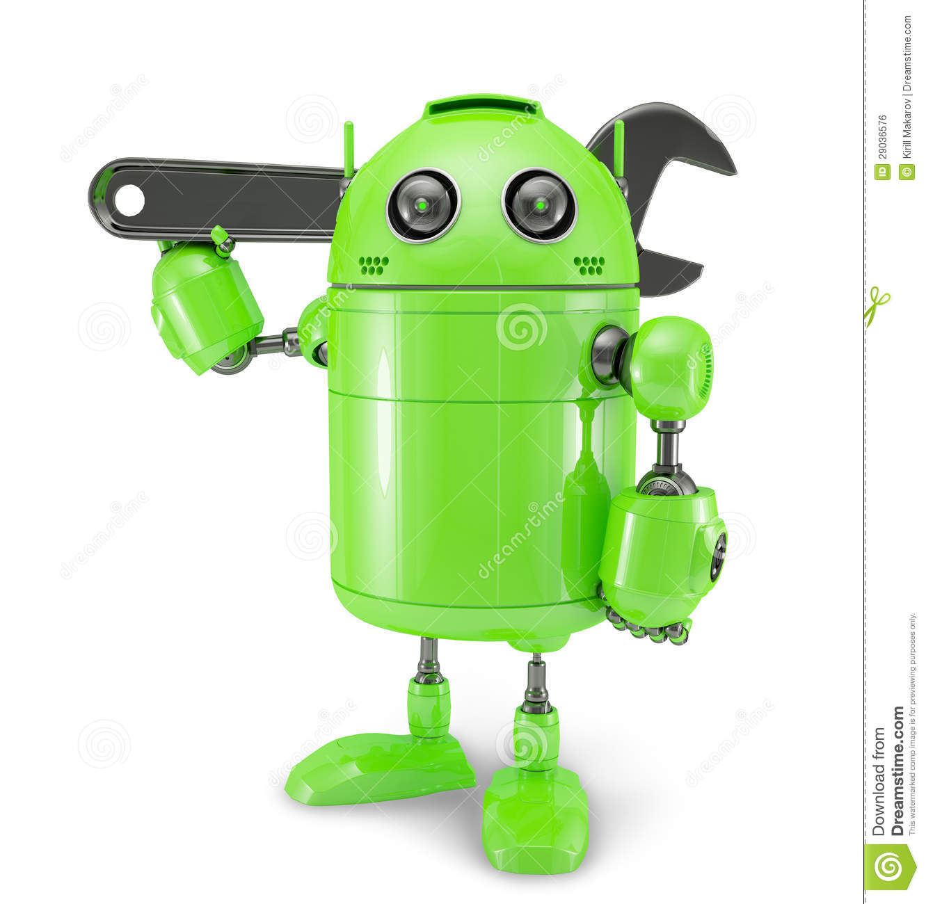Android With Wrench. Repair Concept Royalty Free Stock Image ...