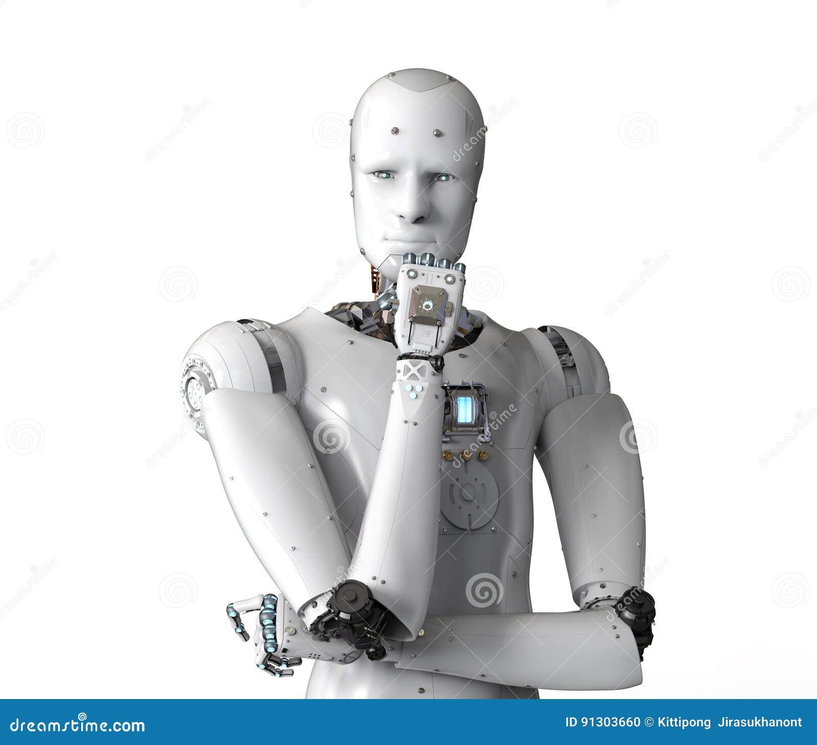 Androidu robota główkowanie