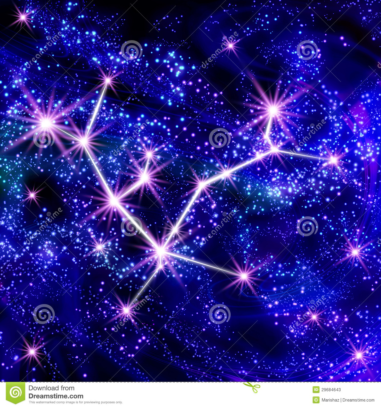 Andromeda Constellation Stock Photos - Image: 29684643